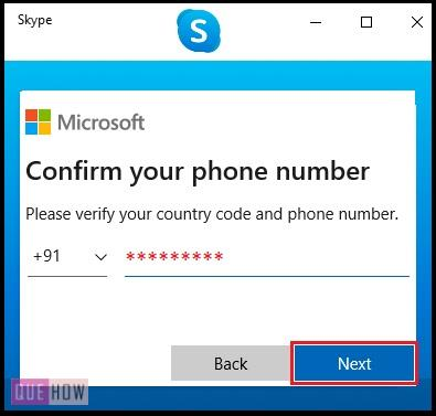 Create Account in Skype 3
