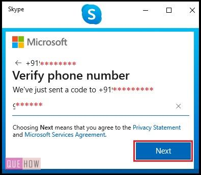 Create Account in Skype 7