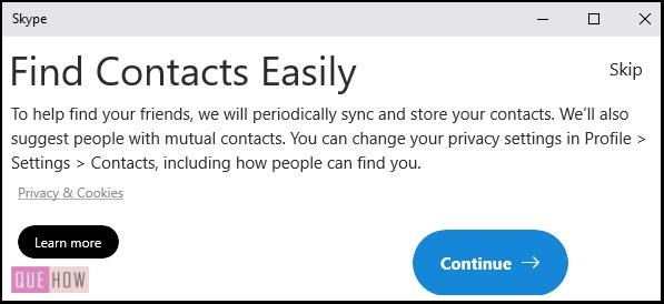 Create Account in Skype 8
