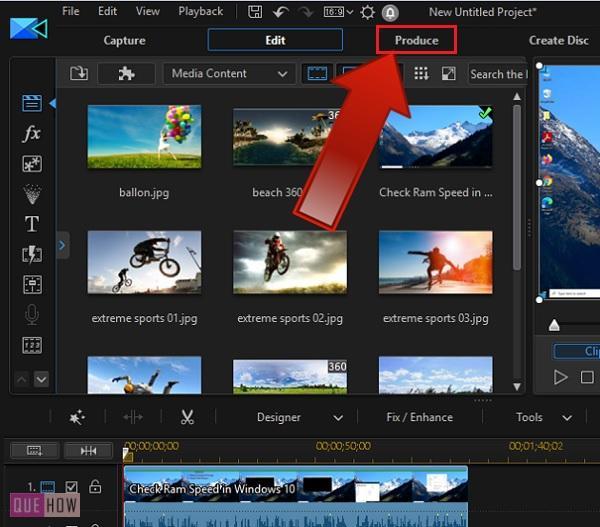 export a video in powerdirector-1