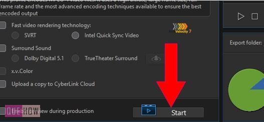 export a video in powerdirector-6