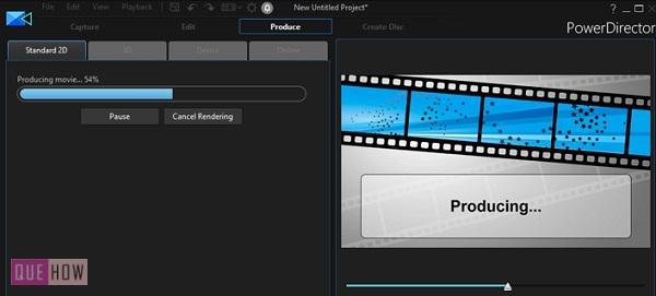 export a video in powerdirector-7