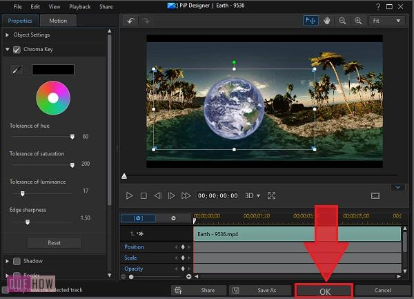 Change Video Background in Power Director-8