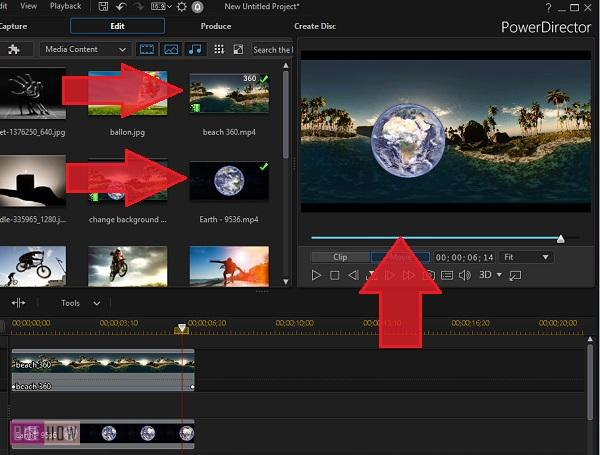 Change Video Background in Power Director-9