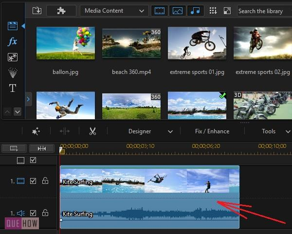 Crop and Zoom Video in Power Director -1