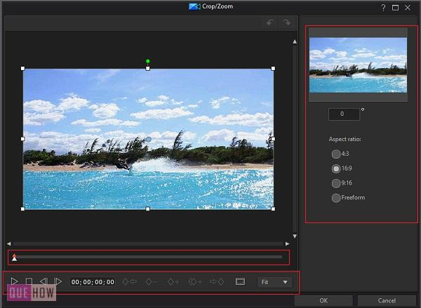 Crop and Zoom Video in Power Director -4