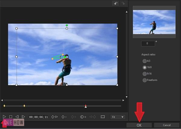 Crop and Zoom Video in Power Director -8