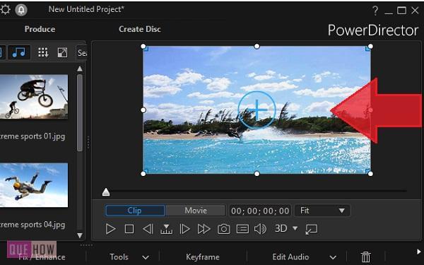 Edit Video in PowerDirector-8
