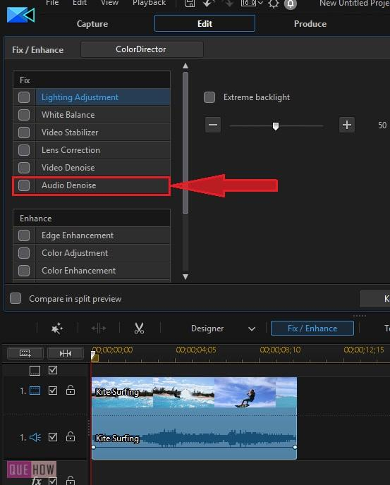 Remove Background Noise in Power Director-3