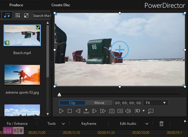 Rotate Video in Power Director-3