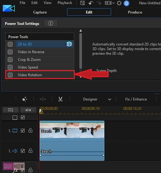 Rotate Video in Power Director-6