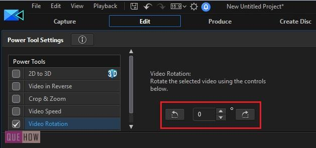 Rotate Video in Power Director-7
