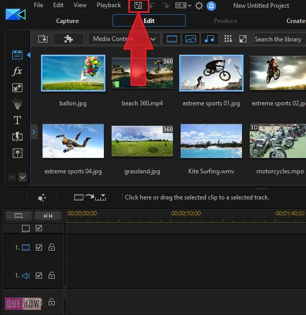 Save Video in Power Director-1