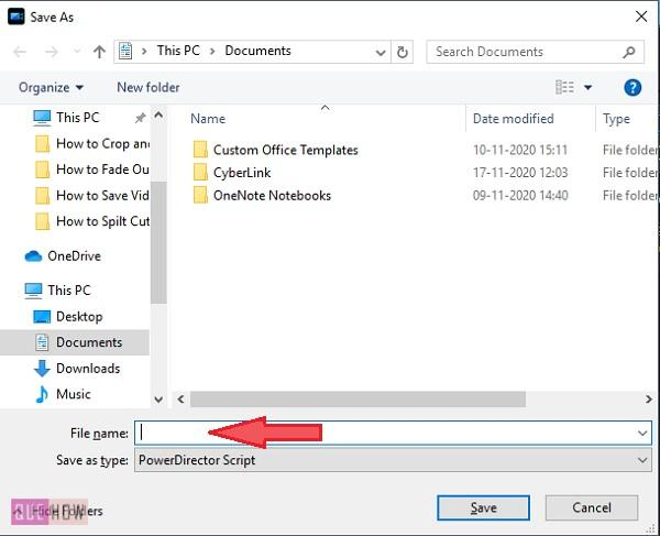 Save Video in Power Director-2