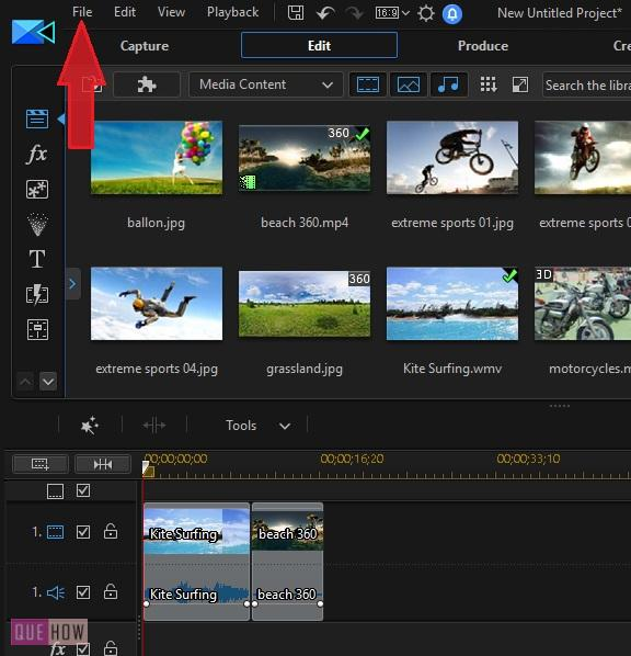 Save Video in Power Director-3