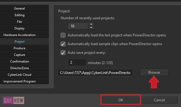 Save Video in Power Director-8