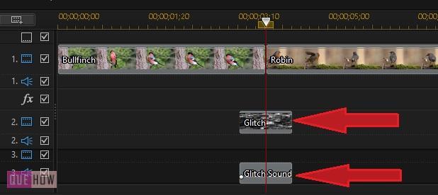 make glitch transition effect in powerdirector-1