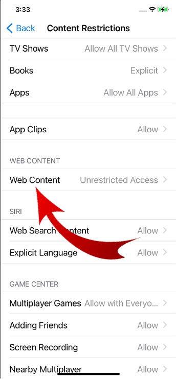 Block Websites in Safari on iPhone-6