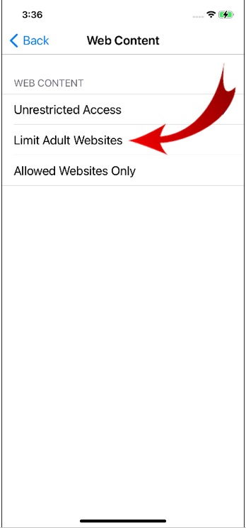 Block Websites in Safari on iPhone-7
