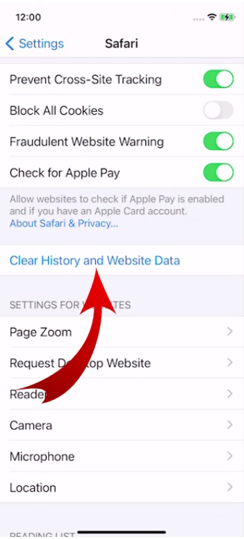 Clear History in Safari Browser-3