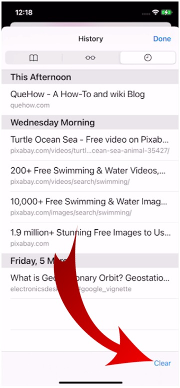 Clear History in Safari Browser-8