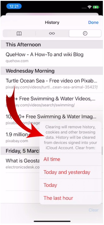 Clear History in Safari Browser-9