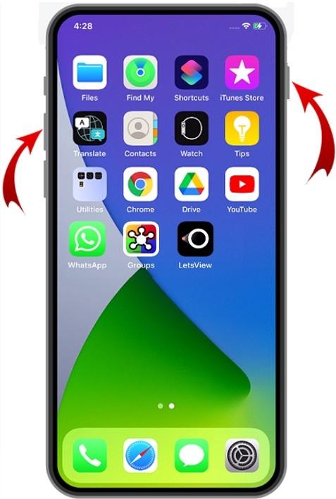Take screenshot on iPhone method-1