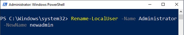 Change Administrator Name in Windows 10 - 12