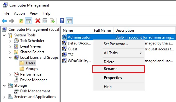 Change Administrator Name in Windows 10 - 5
