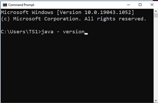 Download Java in Windows 10 -1