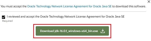 Download Java in Windows 10 -6