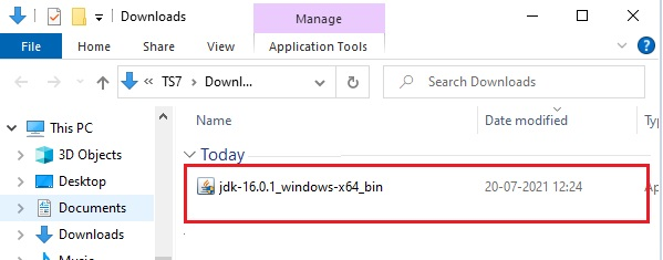 Download Java in Windows 10 -7