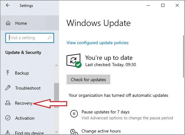 Enter Bios in Windows 10 - 4