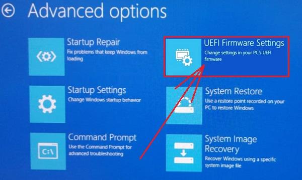 Enter Bios in Windows 10 - 7