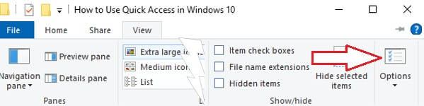 Quick Access in Window 10- 4