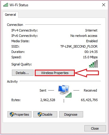 check Wifi Password in Windows 10 - 5