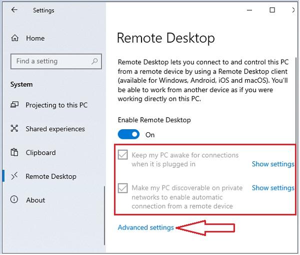Enable Remote Desktop in Windows- 5