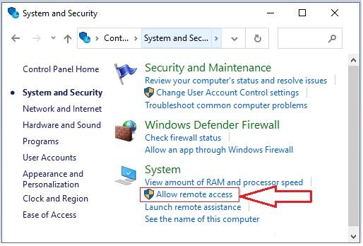 Enable Remote Desktop in Windows using Control Panel -3