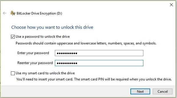 Lock Drive in Windows 10 -2