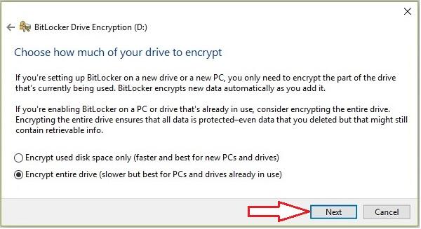 Lock Drive in Windows 10 -3