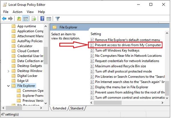 Prevent Access to Drive in Windows 10 -11
