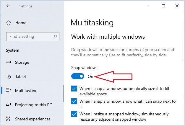 Split Screen in Windows 10 -4