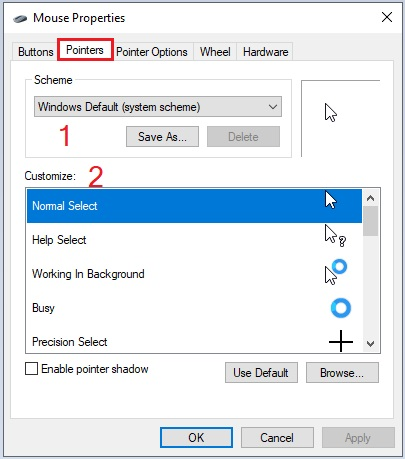 Change Mouse Settings in Windows 10 -10