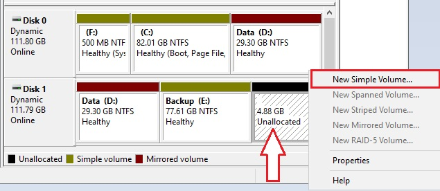 Partition Hard drive in Windows 10 - 7