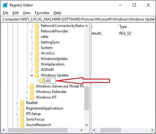 Stop Windows Update 10 - 3.5