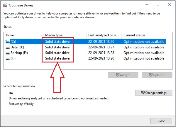 Check if SSD or HDD -2.2