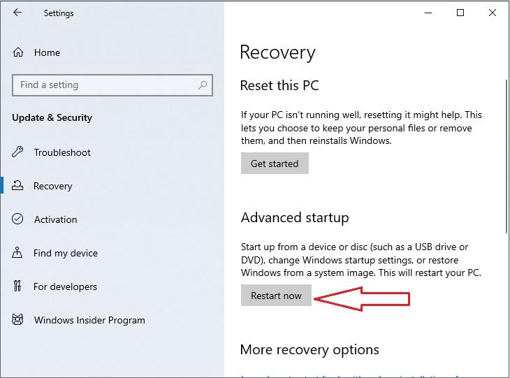 Windows 10 in Safe Mode 2.3